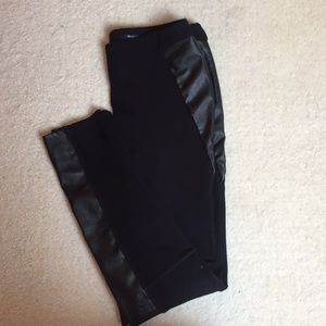 Madewell faux leather insert leggings